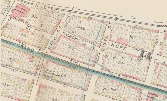 1880 Bromley map of Fillmore Place