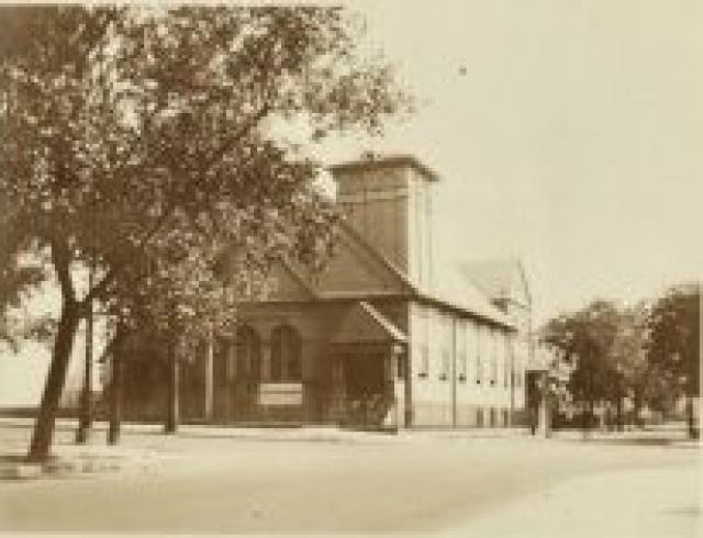 Bushwick Avenue Baptist Church, view looking northeast ca. 1920s