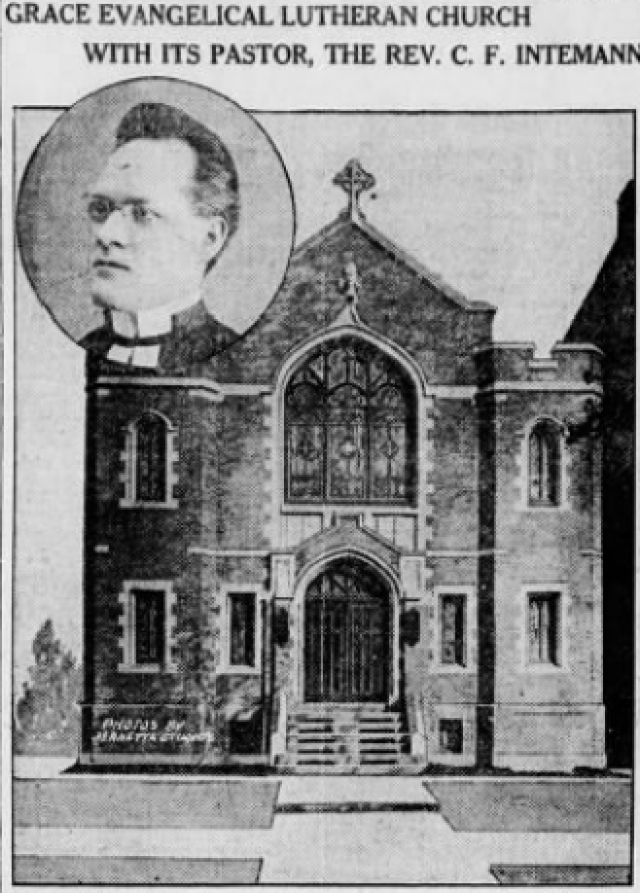 Grace Church and Pastor Intemann (Brooklyn Eagle 1917)
