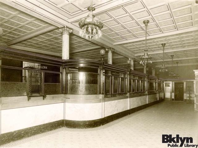 Interior view of Union Bank, 1906
