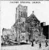 Newspaper image of Calvary P. E. Church in 1913